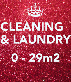 Poster: CLEANING   & LAUNDRY  0 - 29m2
