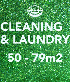Poster: CLEANING   & LAUNDRY  50 - 79m2
