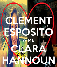 Poster: CLEMENT ESPOSITO AIME CLARA HANNOUN