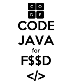 Poster: CODE JAVA for F$$D </>