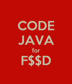 Poster: CODE JAVA for F$$D