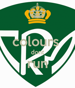 Poster:  colours  dont run