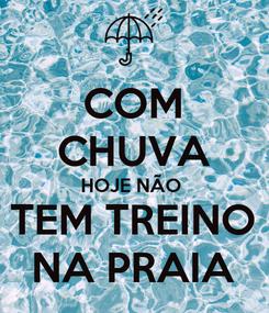 Poster: COM CHUVA HOJE NÃO  TEM TREINO NA PRAIA