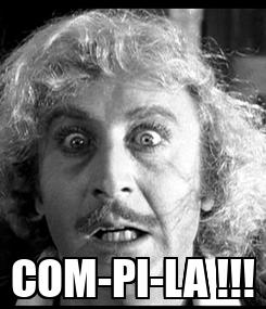 Poster:  COM-PI-LA !!!