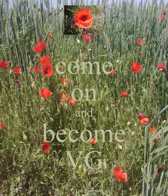 Poster: come on and become VG