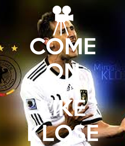 Poster: COME ON HELP LIKE KLOSE