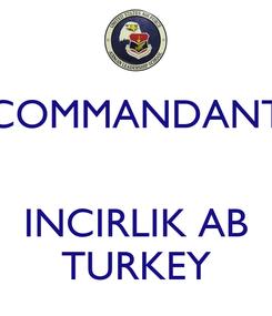 Poster: COMMANDANT   INCIRLIK AB TURKEY
