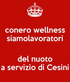 Poster: conero wellness siamolavoratori  del nuoto a servizio di Cesini