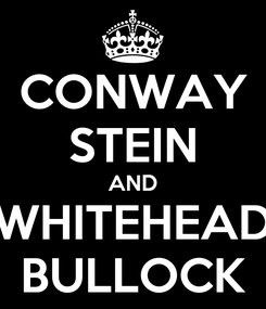 Poster: CONWAY STEIN AND WHITEHEAD BULLOCK