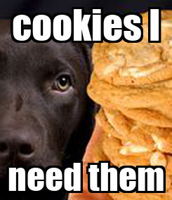 Poster: cookies I need them