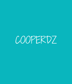 Poster:  COOPERDZ
