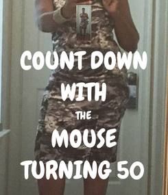 Poster: COUNT DOWN WITH THE MOUSE TURNING 50