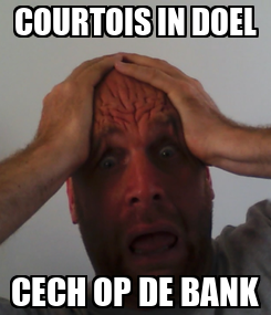 Poster: COURTOIS IN DOEL CECH OP DE BANK