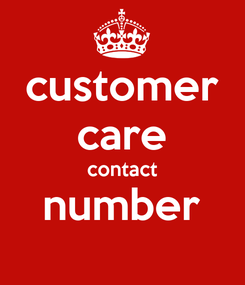 Poster: customer care contact number