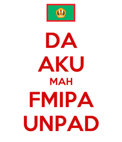 Poster: DA AKU MAH FMIPA UNPAD