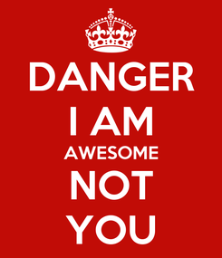 Poster: DANGER I AM AWESOME NOT YOU