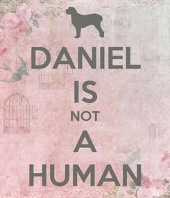 Poster: DANIEL IS NOT A HUMAN