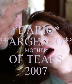 Poster: *DARIO* **ARGENTO** MOTHER OF TEARS 2007