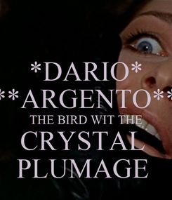 Poster: *DARIO* **ARGENTO** THE BIRD WIT THE CRYSTAL  PLUMAGE