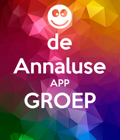 Poster: de Annaluse APP GROEP
