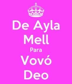 Poster: De Ayla Mell Para Vovó Deo