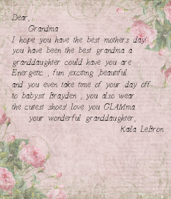 Poster: Dear,