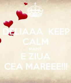 Poster: DELIAAA  KEEP CALM MAINE E ZIUA CEA MAREEE!!!