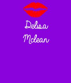 Poster: Delisa Mclean