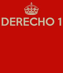 Poster: DERECHO 1