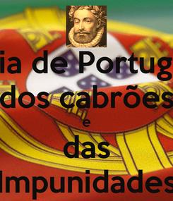 Poster: Dia de Portugal dos cabrões e das Impunidades