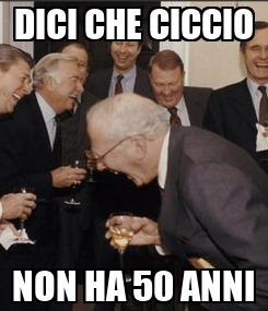 Poster: DICI CHE CICCIO NON HA 50 ANNI