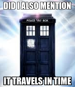 Poster: DID I ALSO MENTION IT TRAVELS IN TIME