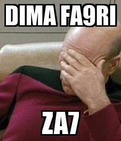 Poster: DIMA FA9RI ZA7