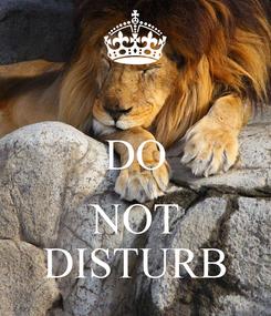 Poster:  DO  NOT DISTURB