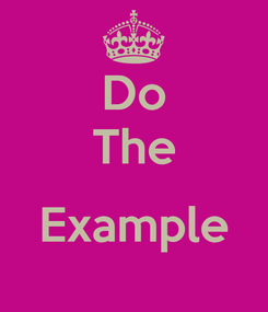 Poster: Do The  Example
