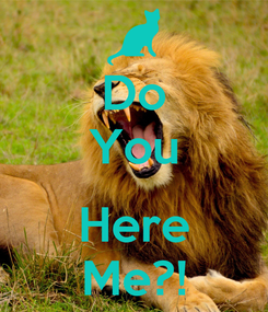 Poster: Do You  Here Me?!