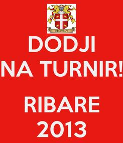 Poster: DODJI NA TURNIR!  RIBARE 2013