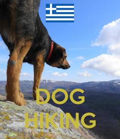Poster:    DOG HIKING