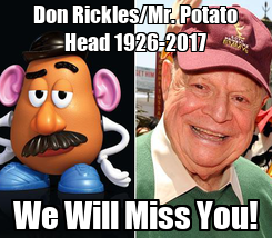 Poster: Don Rickles/Mr. Potato Head 1926-2017 We Will Miss You!