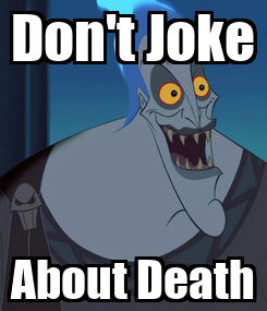 Poster: Don't Joke About Death