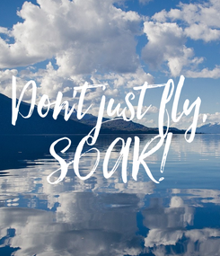Poster: Don't just fly, SOAR!