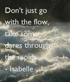 Poster: Don't just go 