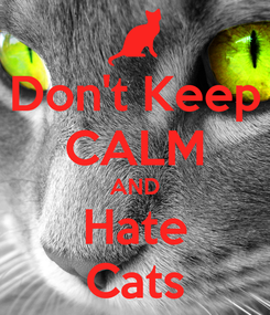Poster: Don't Keep CALM AND Hate Cats
