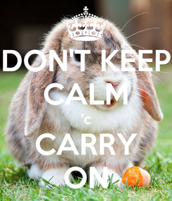 Poster: DON'T KEEP CALM 'c CARRY ON