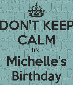 Poster: DON'T KEEP CALM It's  Michelle's Birthday