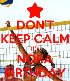 Poster: DON'T KEEP CALM IT'S NORA BIRTHDAY