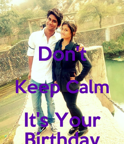 Poster:  Don't Keep Calm It's Your Birthday