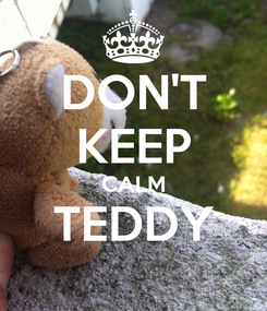 Poster: DON'T KEEP CALM TEDDY