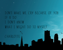Poster: Don't make me cry because of you