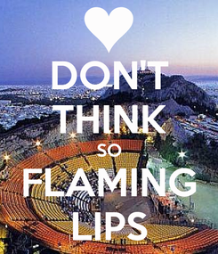 Poster: DON'T THINK SO FLAMING LIPS